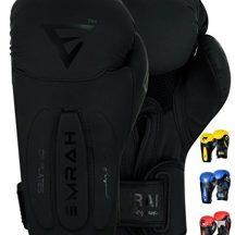 EMRAH-limite-Deal-Maya-du-cuir-Gants-de-boxe-Gel-Gants-de-boxe-Sac-de-frappe-Gants-dentranement-Muay-Thai-G7-noir-mat-360-ml-12-oz-0-2