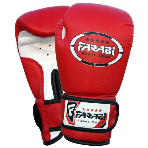 Gants-de-boxe-pour-enfants-juniors-de-boxe-Gants-de-MMA-Gants-de-Sparring-en-cuir-synthtique-4Oz-rouge-0-2