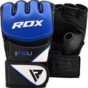 RDX-Maya-Hide-Cuir-MMA-Gants-Entrainement-Art-Martiaux-UFC-Sac-De-Frappe-Combat-Sparring-Kickboxing-bleu-XL-0-0