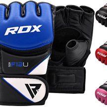 RDX-Maya-Hide-Cuir-MMA-Gants-Entrainement-Art-Martiaux-UFC-Sac-De-Frappe-Combat-Sparring-Kickboxing-bleu-XL-0
