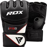 RDX-Maya-Hide-Cuir-MMA-Gants-Entrainement-Art-Martiaux-UFC-Sac-De-Frappe-Combat-Sparring-Kickboxing-noir-M-0-0