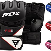 RDX-Maya-Hide-Cuir-MMA-Gants-Entrainement-Art-Martiaux-UFC-Sac-De-Frappe-Combat-Sparring-Kickboxing-noir-M-0