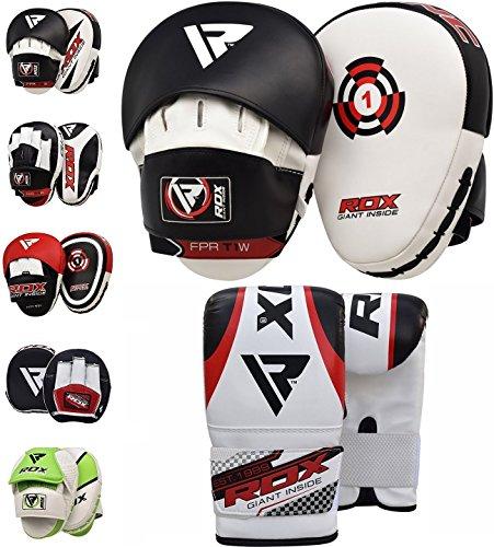 RDX-Pattes-Dours-et-Gants-de-Frappe-MMA-Pao-Boxe-Thai-Kit-Entranement-Bouclier-kick-boxing-Courbe-Cible-Sac-Mitaines-Boxing-Focus-pads-0-2