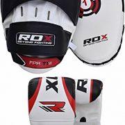 RDX-Pattes-Dours-et-Gants-de-Frappe-MMA-Pao-Boxe-Thai-Kit-Entranement-Bouclier-kick-boxing-Courbe-Cible-Sac-Mitaines-Boxing-Focus-pads-0-3