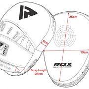 RDX-Pattes-Dours-et-Gants-de-Frappe-MMA-Pao-Boxe-Thai-Kit-Entranement-Bouclier-kick-boxing-Courbe-Cible-Sac-Mitaines-Boxing-Focus-pads-0-4