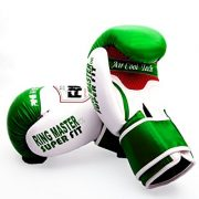 Ringmaster-UK-adulte-gants-de-boxe-en-cuir-synthtique-Vertblanc-Homme-Femme-Green-and-White-0-1