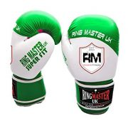 Ringmaster-UK-adulte-gants-de-boxe-en-cuir-synthtique-Vertblanc-Homme-Femme-Green-and-White-0
