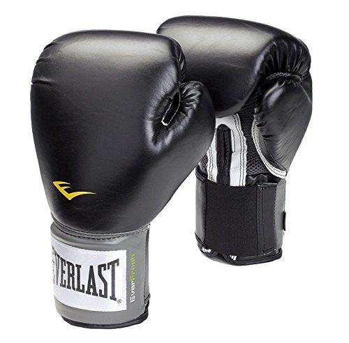 Everlast-Velcro-Pro-Style-Gants-de-boxe-dentranement-Noir-12-0