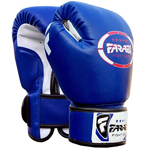 Gants-de-boxe-junior-enfants-4-oz-Bleu-Sparring-trainning-Punching-Bag-Pads-Mitaines-0