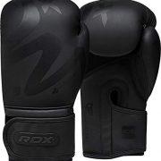 RDX-Gants-de-Boxe-Muay-Tha-Kick-Boxing-Mat-Noir-Convexe-Peau-Cuir-Gant-pour-Sparring-Sac-Frappe-Entranement-Mitaines-Comptition-Combat-Boxing-Gloves-0