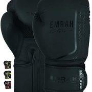 EMRAH-ESV-300-Gants-de-Boxe-Muay-Thai-Formation-DX-Cuir-Cacher-Sac-de-Boxe-Sparring-Mitaines-Kickboxing-Combats-Noir-Mat-14-oz-0