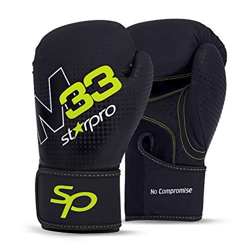 Starpro-Gants-de-Boxe-pour-Entrainement-Cuir-Synthtique-Gant-pour-Sparring-Muay-Thai-Sac-Frappe-Entranement-Mitaines-Kickboxing-Comptition-8oz-10oz-12oz-14oz-16oz-NoirVert-Boxing-Gloves-0