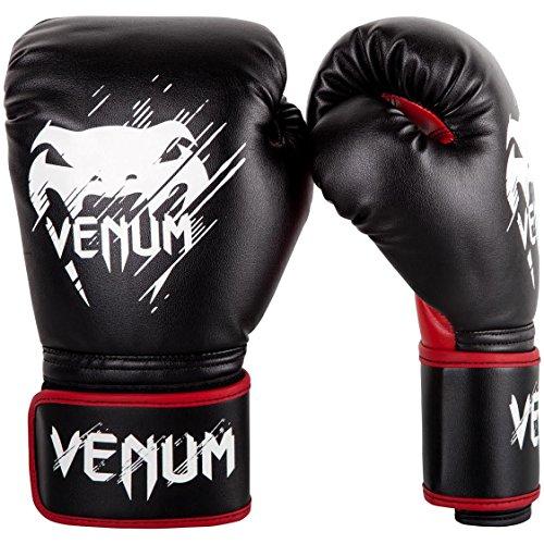 Venum-Contender-Gants-de-Boxe-Mixte-Enfant-NoirRouge-6oz-0