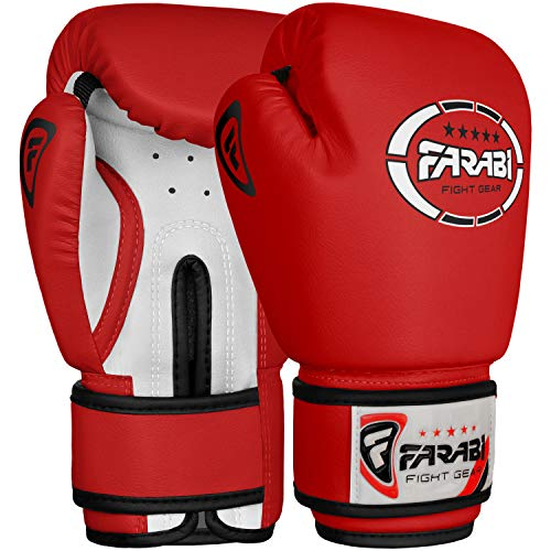 Gants-de-boxe-junior-enfants-4-oz-Red-sparring-trainning-Punching-Bag-pads-Mitaines-0