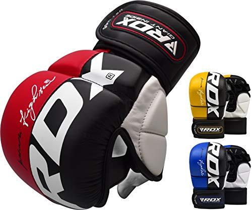 RDX-Gants-MMA-pour-Art-Martiaux-Dentranement-Approuv-par-SMMAF-Maya-Hide-Cuir-Kickboxing-Gant-Parfaite-pour-Grappling-Muay-Thai-Sparring-Formation-Sac-de-Frappe-Combat-Training-Gloves-0