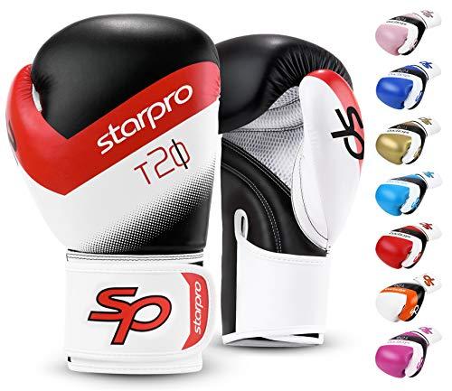 Starpro-Gants-de-Boxe-pour-Entrainement-Gant-pour-Sparring-Muay-Thai-Sac-Frappe-Entranement-Mitaines-Kickboxing-Comptition-8oz-10oz-12oz-14oz-16oz-Hommes-et-Femmes-0
